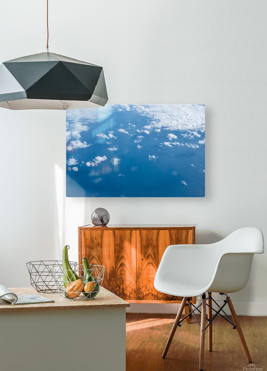 Océan Atlantique  Impression métal HD avec cadre flottant sur le dos