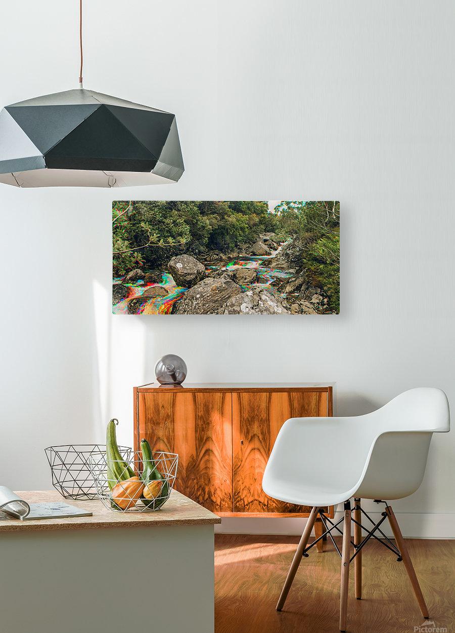 Glen Shiel River - Colorflow 3  HD Metal print with Floating Frame on Back