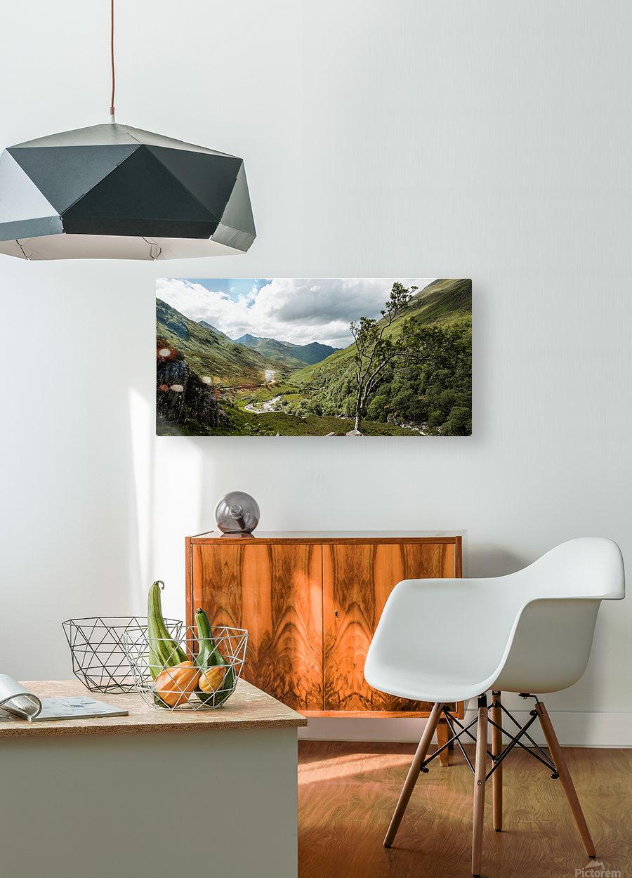 Glen Shiel  Impression métal HD avec cadre flottant sur le dos