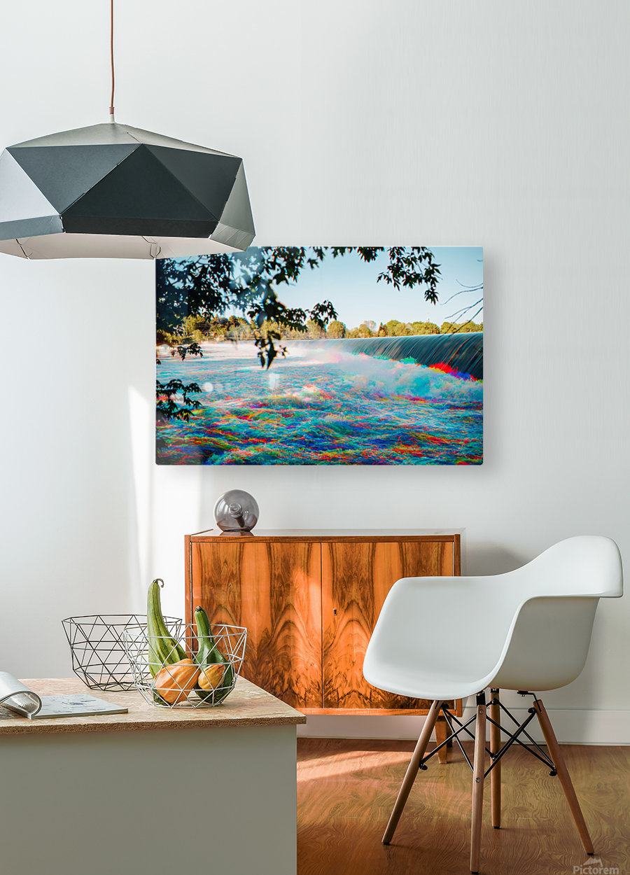 Chambly - Colorflow  HD Metal print with Floating Frame on Back