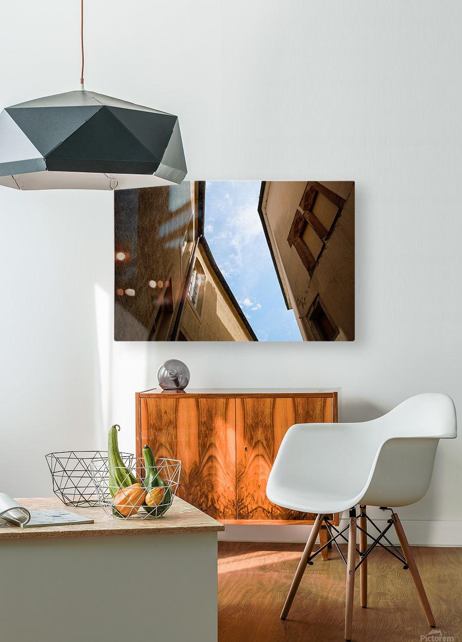 Ruelle de Luxembourg  Impression métal HD avec cadre flottant sur le dos