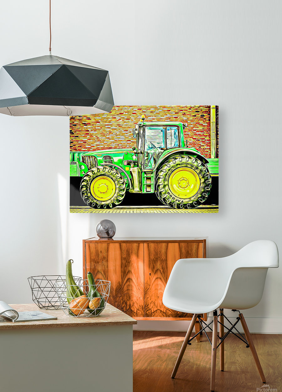 farming equipment  HD Metal print with Floating Frame on Back