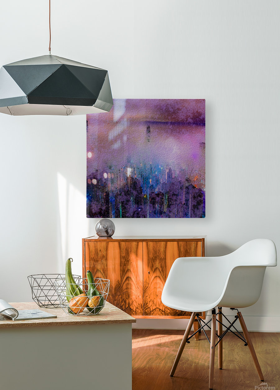 CITY SMOG  HD Metal print with Floating Frame on Back