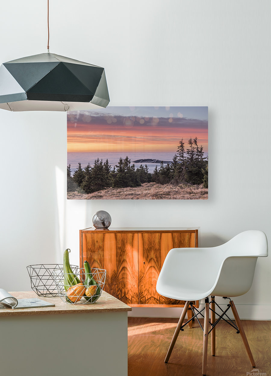 Temperature Inversion in the Nationalpark Harz  HD Metal print with Floating Frame on Back