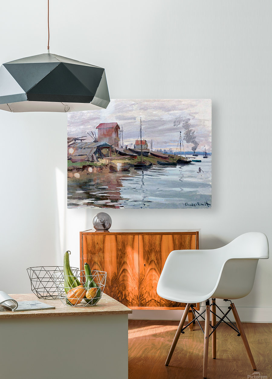 The Seine at Petit-Gennevilliers  HD Metal print with Floating Frame on Back