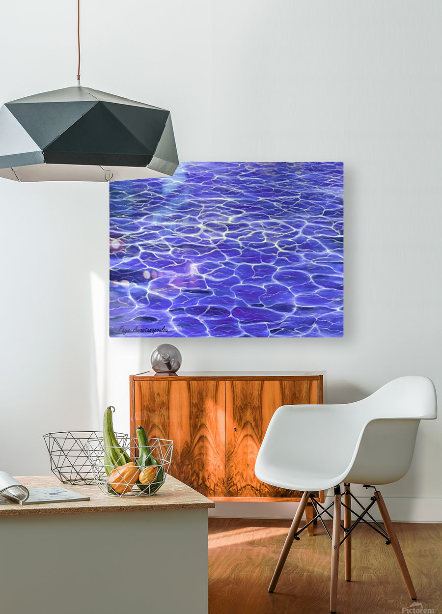 On The Surface  HD Metal print with Floating Frame on Back