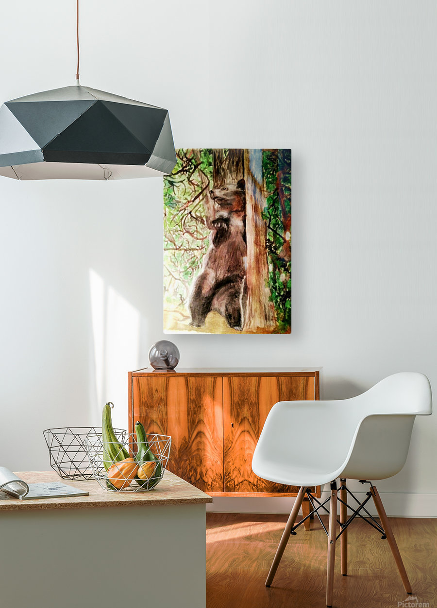The Bear Facts  HD Metal print with Floating Frame on Back