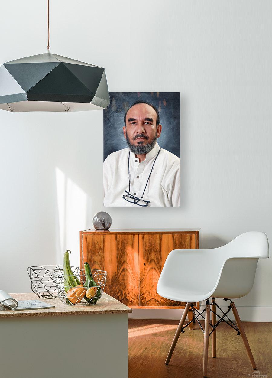 ahson qazi   HD Metal print with Floating Frame on Back