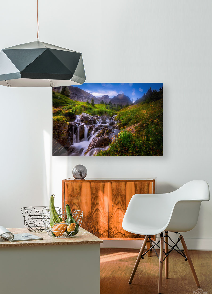 Chasing Waterfall   HD Metal print with Floating Frame on Back