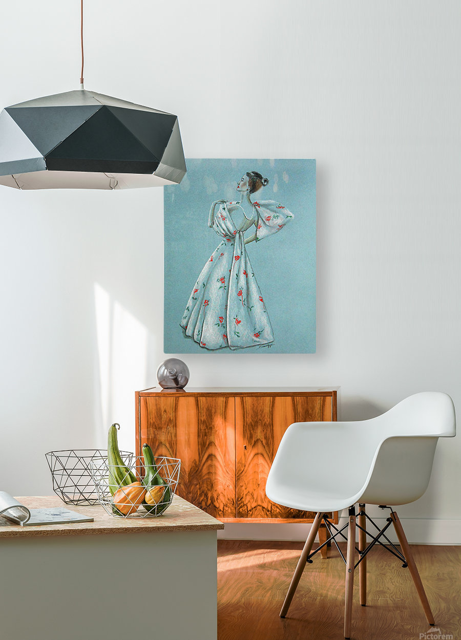 Mid-Century Mode  HD Metal print with Floating Frame on Back