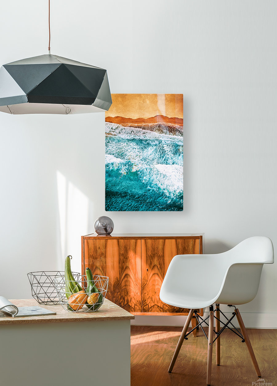 Tropical VI - Beach Waves II   HD Metal print with Floating Frame on Back