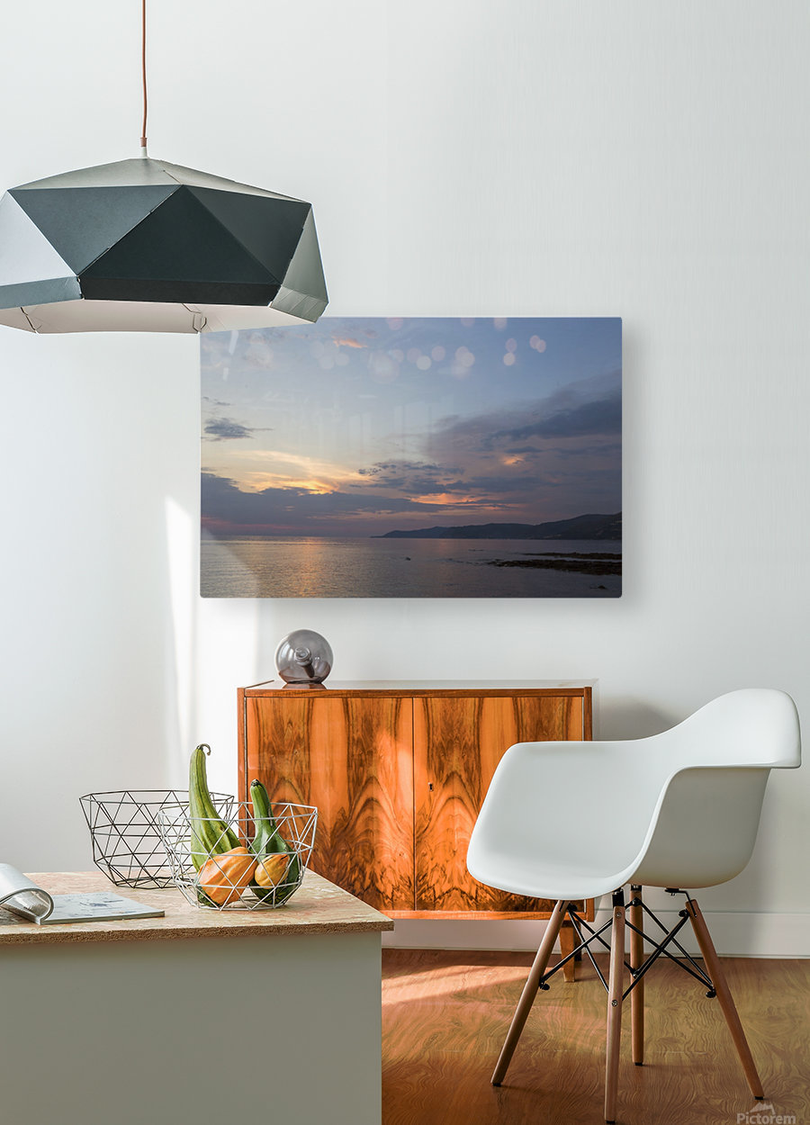 Sunset in Acciaroli  HD Metal print with Floating Frame on Back