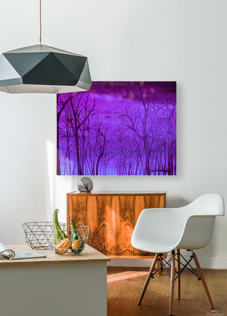 Forest Light  HD Metal print with Floating Frame on Back