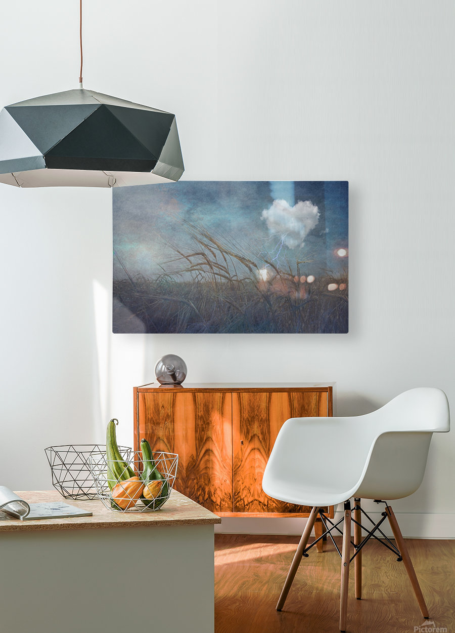 Love Cloud  HD Metal print with Floating Frame on Back