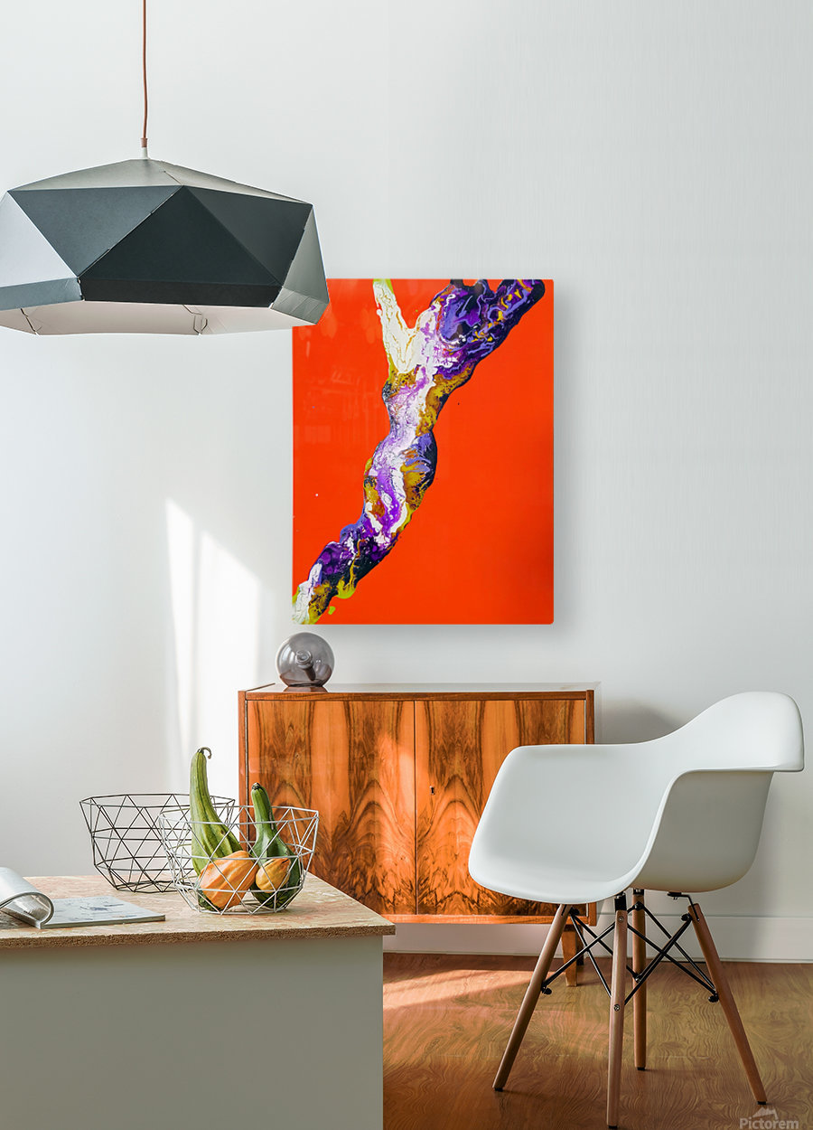 The Shape  HD Metal print with Floating Frame on Back