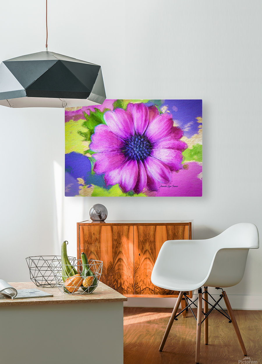 Purple Storm  HD Metal print with Floating Frame on Back
