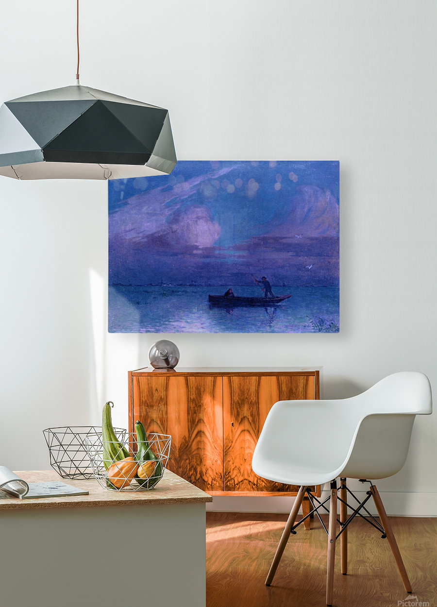 Landscape of the Sea Bank  HD Metal print with Floating Frame on Back