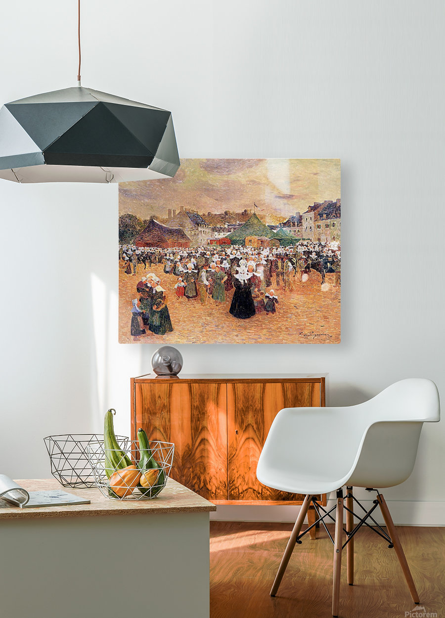 The Fair Festival  HD Metal print with Floating Frame on Back