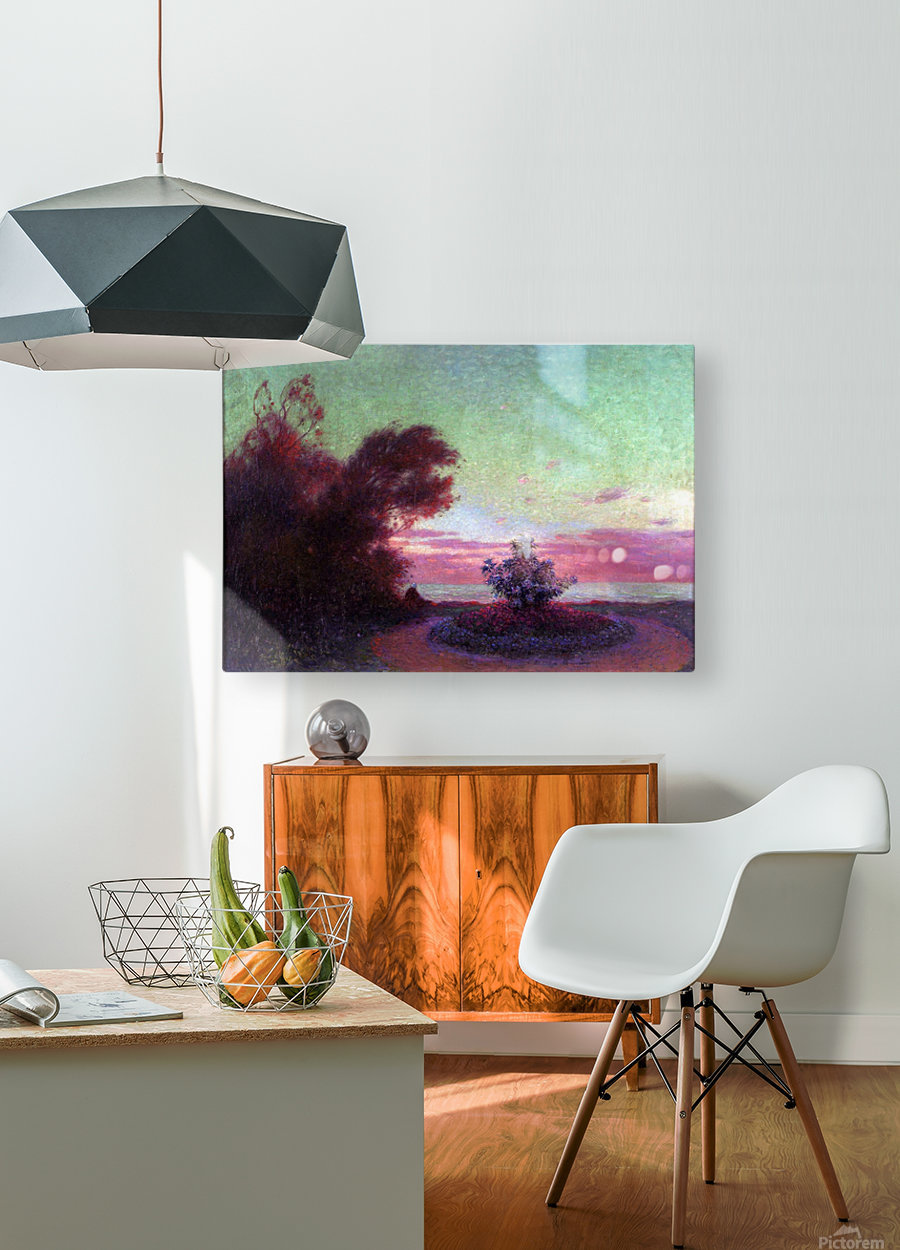 The Seashore at Twilight  HD Metal print with Floating Frame on Back
