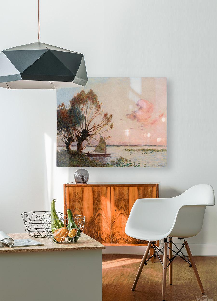 Sailer at Marais de la Grande Briere  HD Metal print with Floating Frame on Back