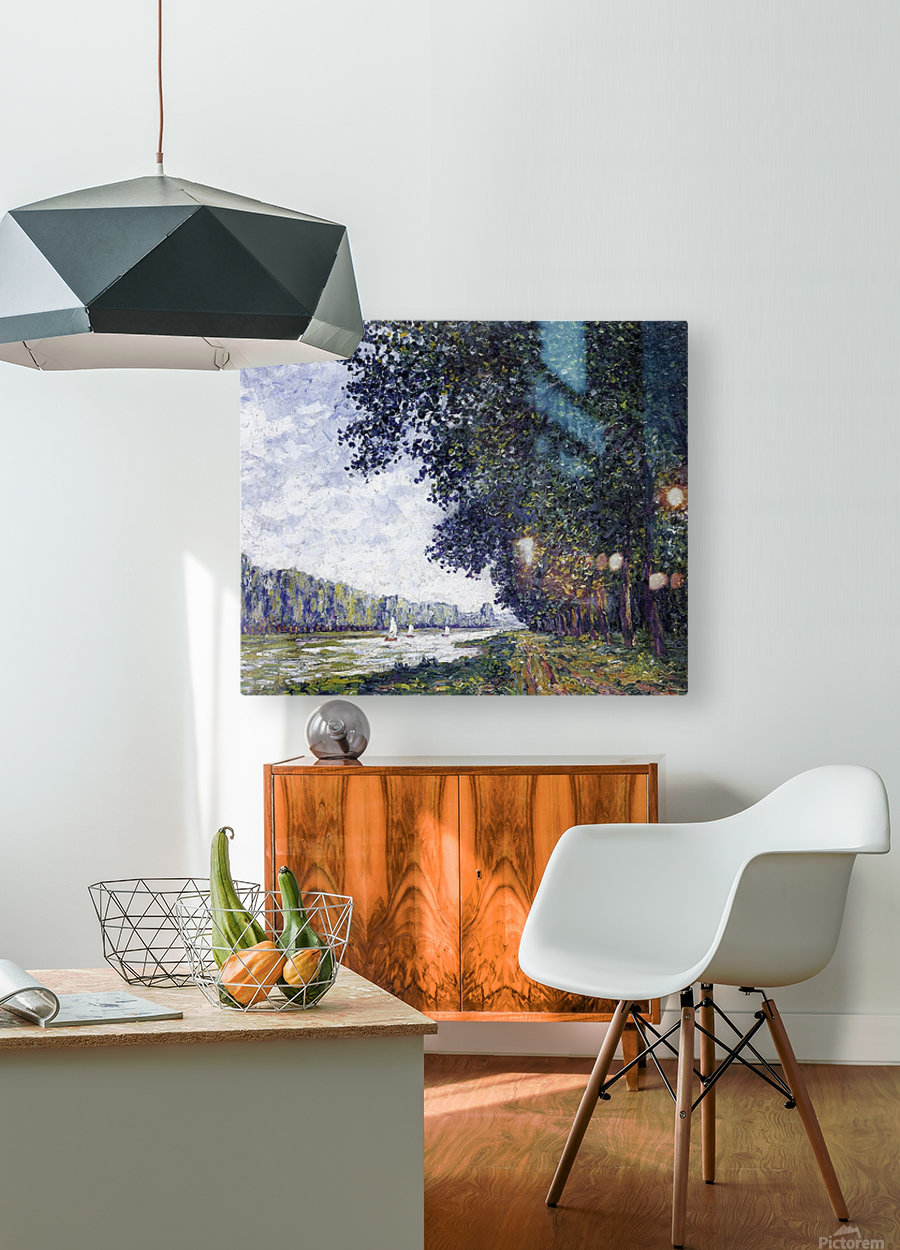 Canal of Moret, Winter Effect  HD Metal print with Floating Frame on Back