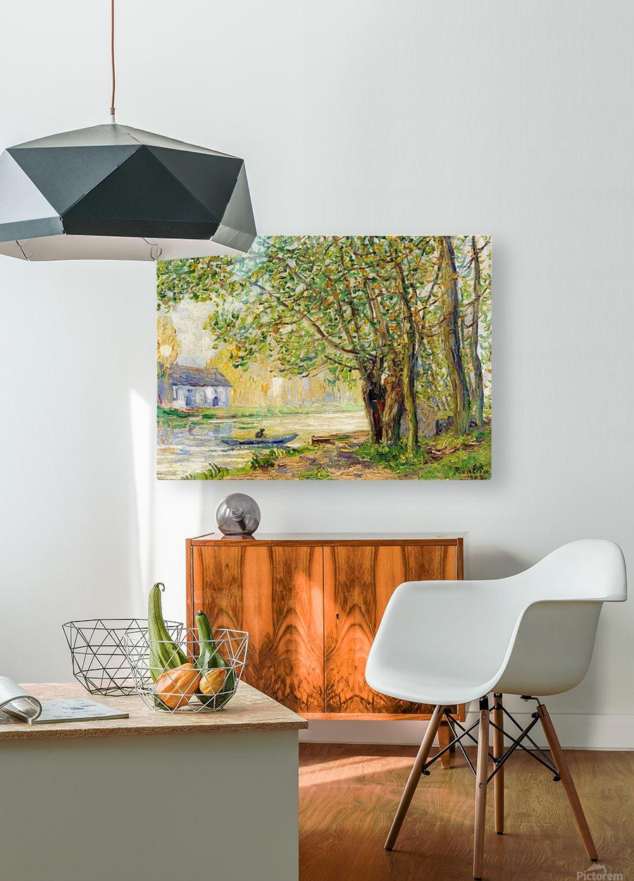 Moret-sur-Loing  HD Metal print with Floating Frame on Back