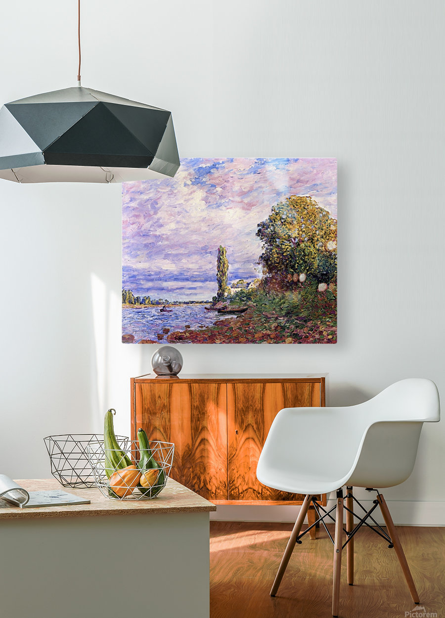 Banks of the Loing  HD Metal print with Floating Frame on Back