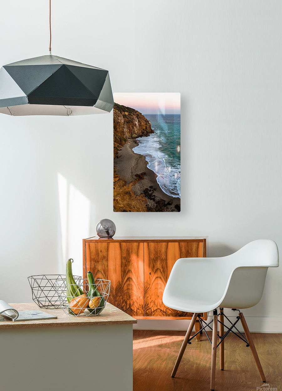 High Tide  HD Metal print with Floating Frame on Back