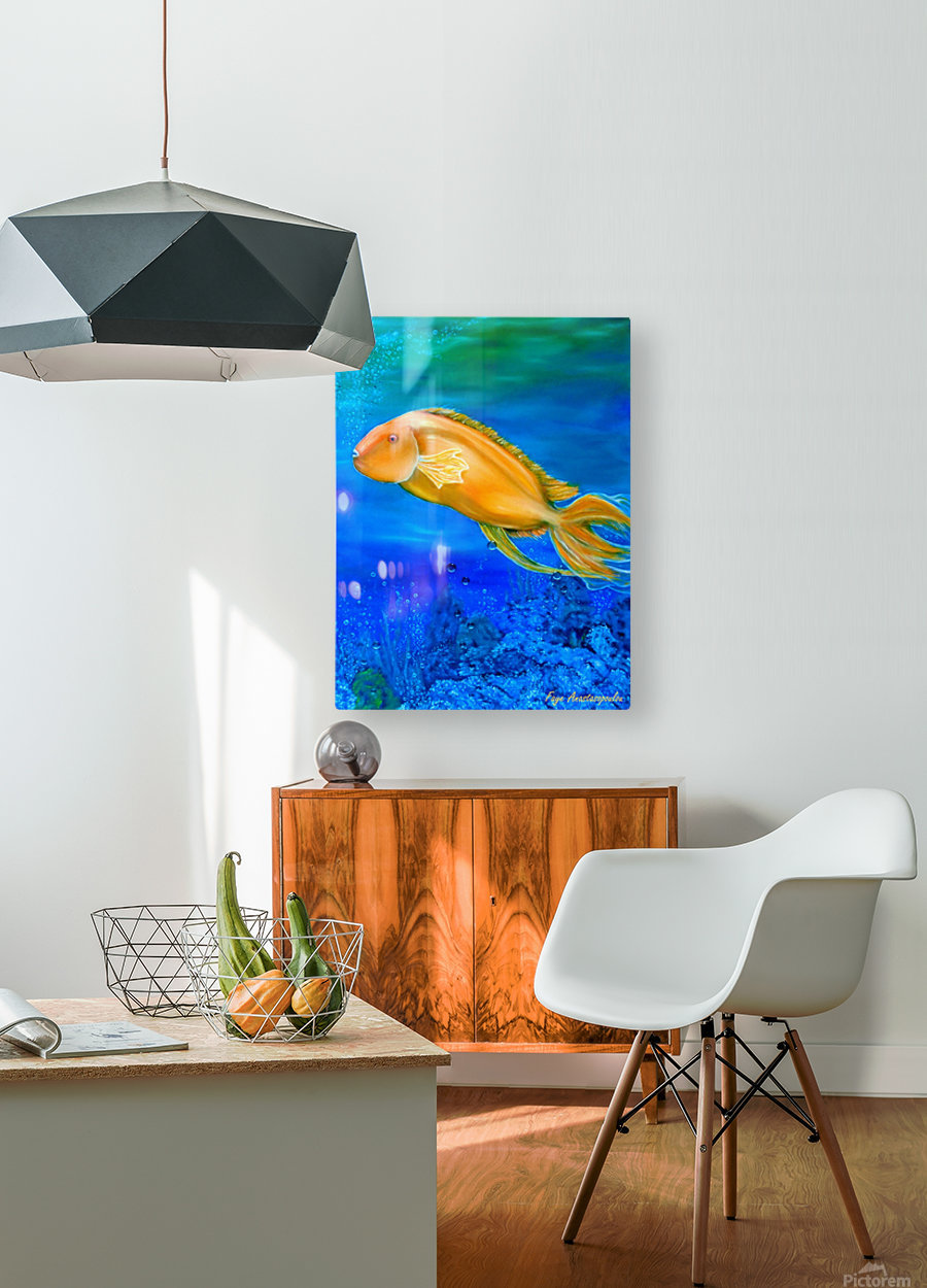 Undersea Journey  HD Metal print with Floating Frame on Back