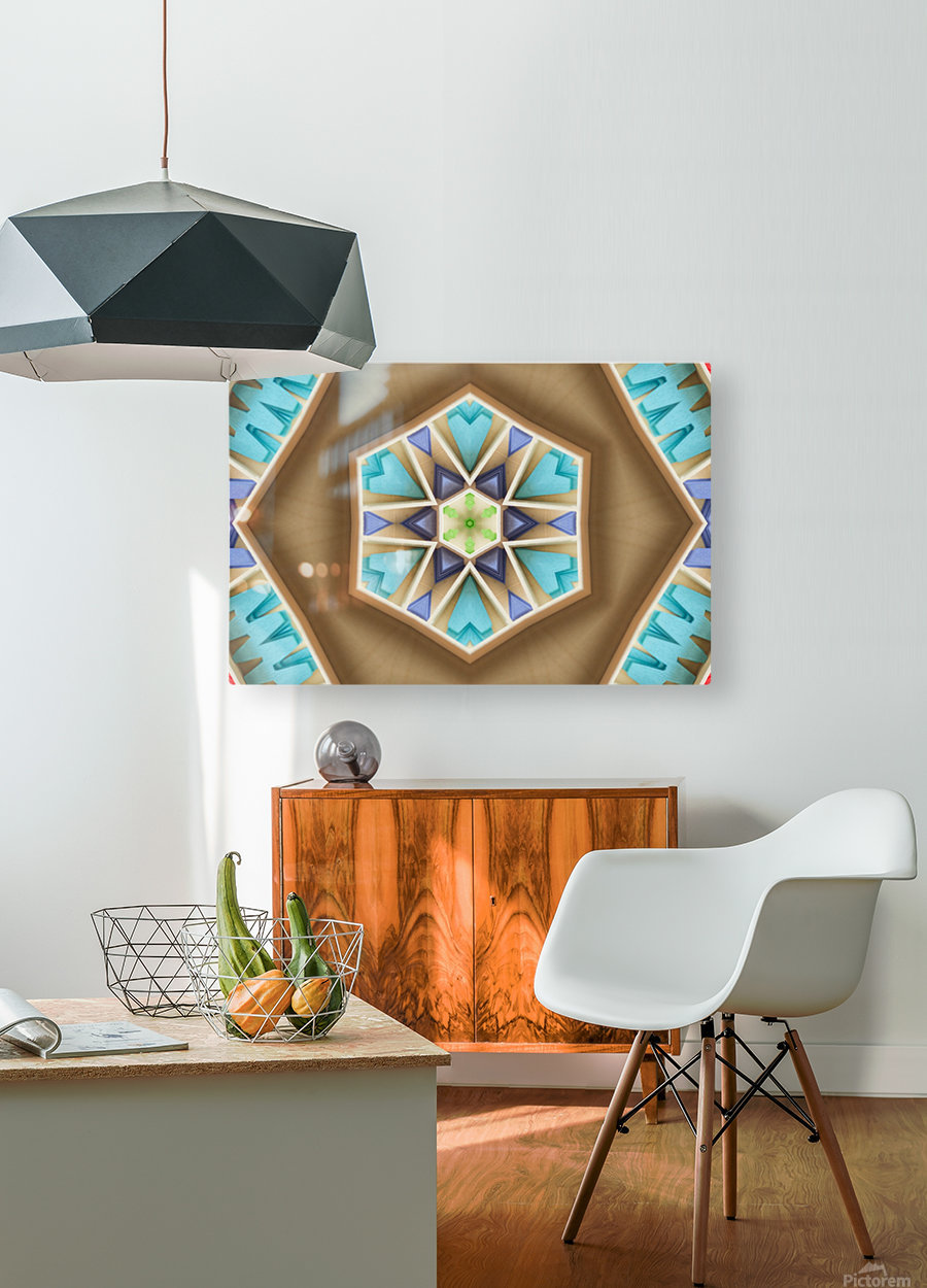 Pattern design  HD Metal print with Floating Frame on Back