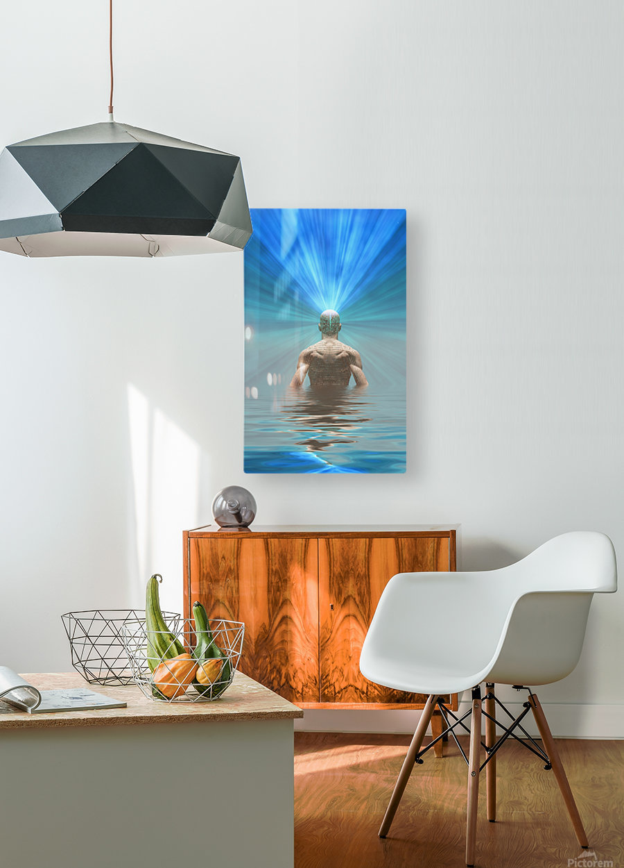 Power of Mind  HD Metal print with Floating Frame on Back