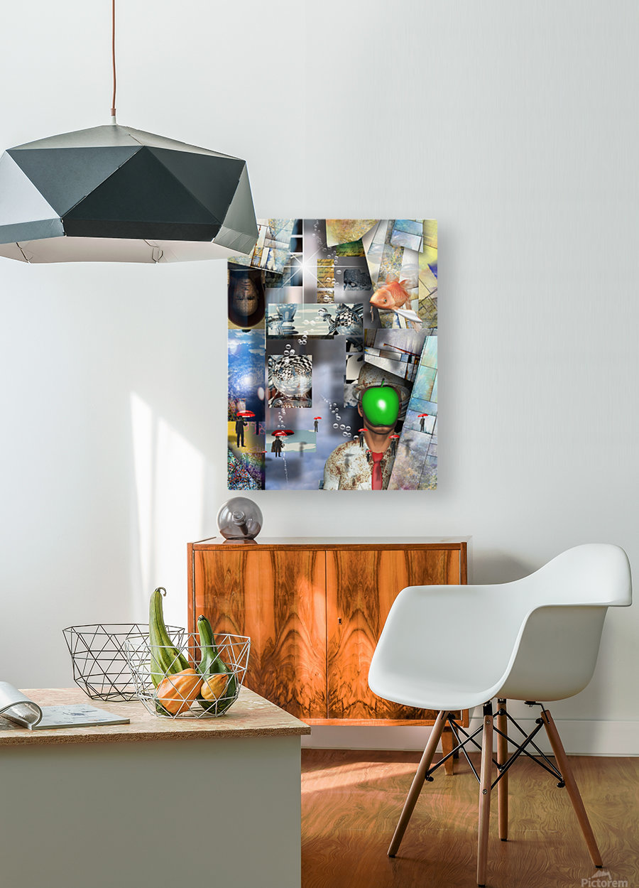 Abstraction  HD Metal print with Floating Frame on Back