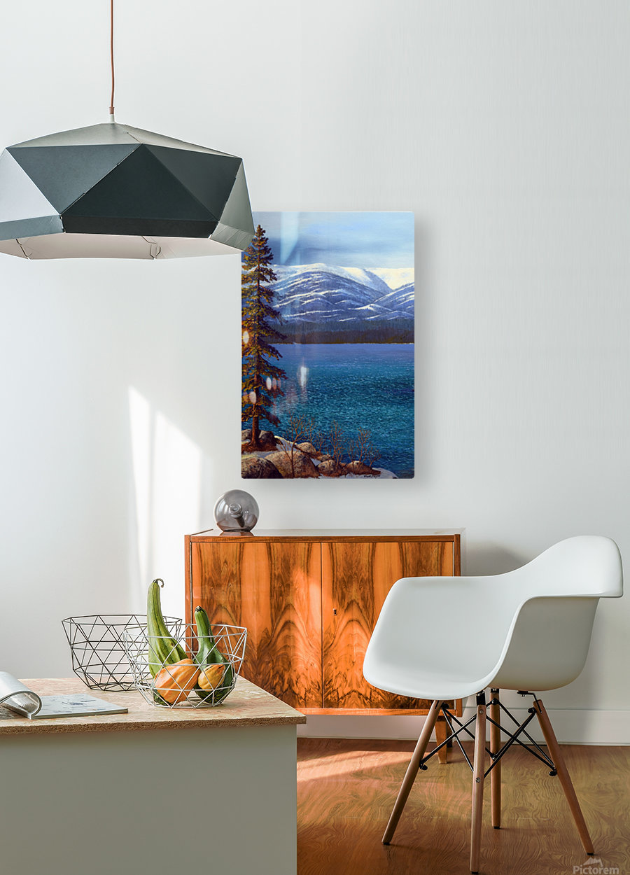 Lake Tahoe 1  HD Metal print with Floating Frame on Back