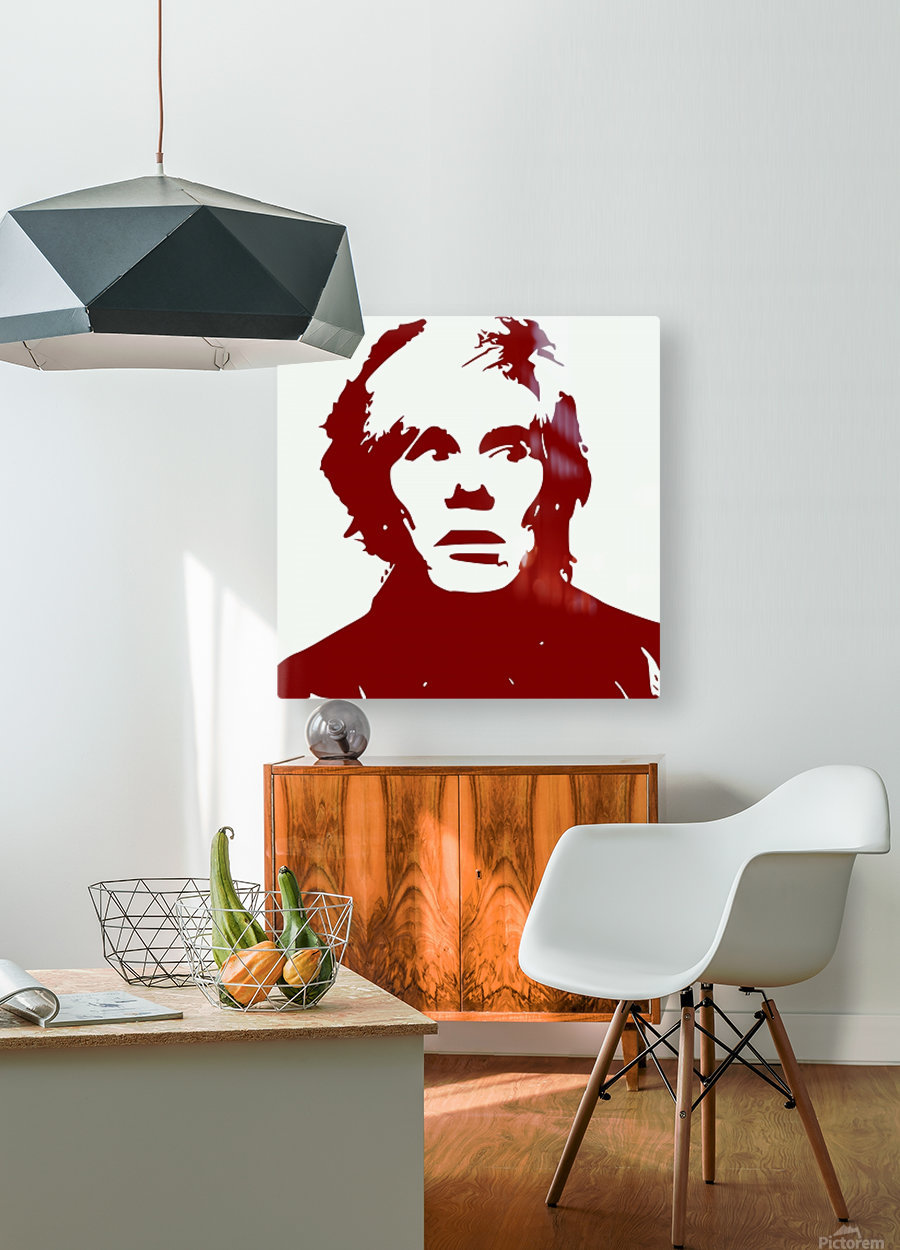 Andy Warhol  HD Metal print with Floating Frame on Back