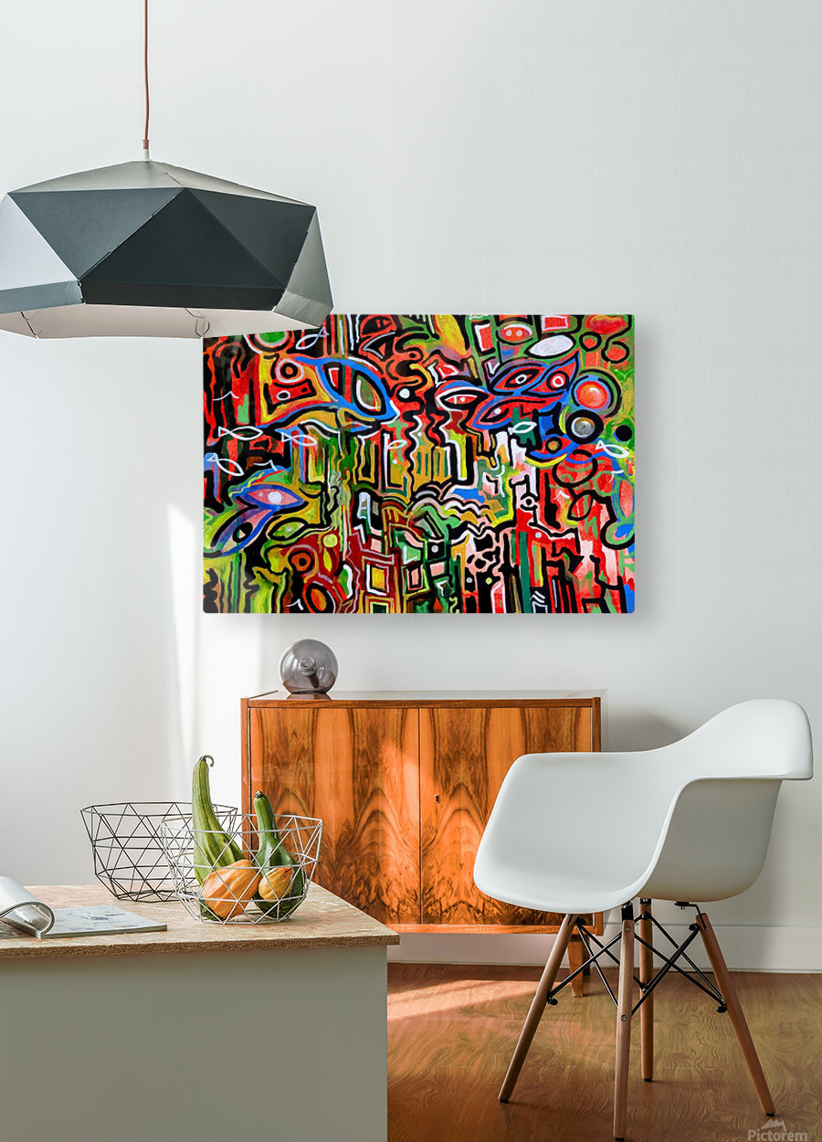 Abstract painting 1 2018  HD Metal print with Floating Frame on Back
