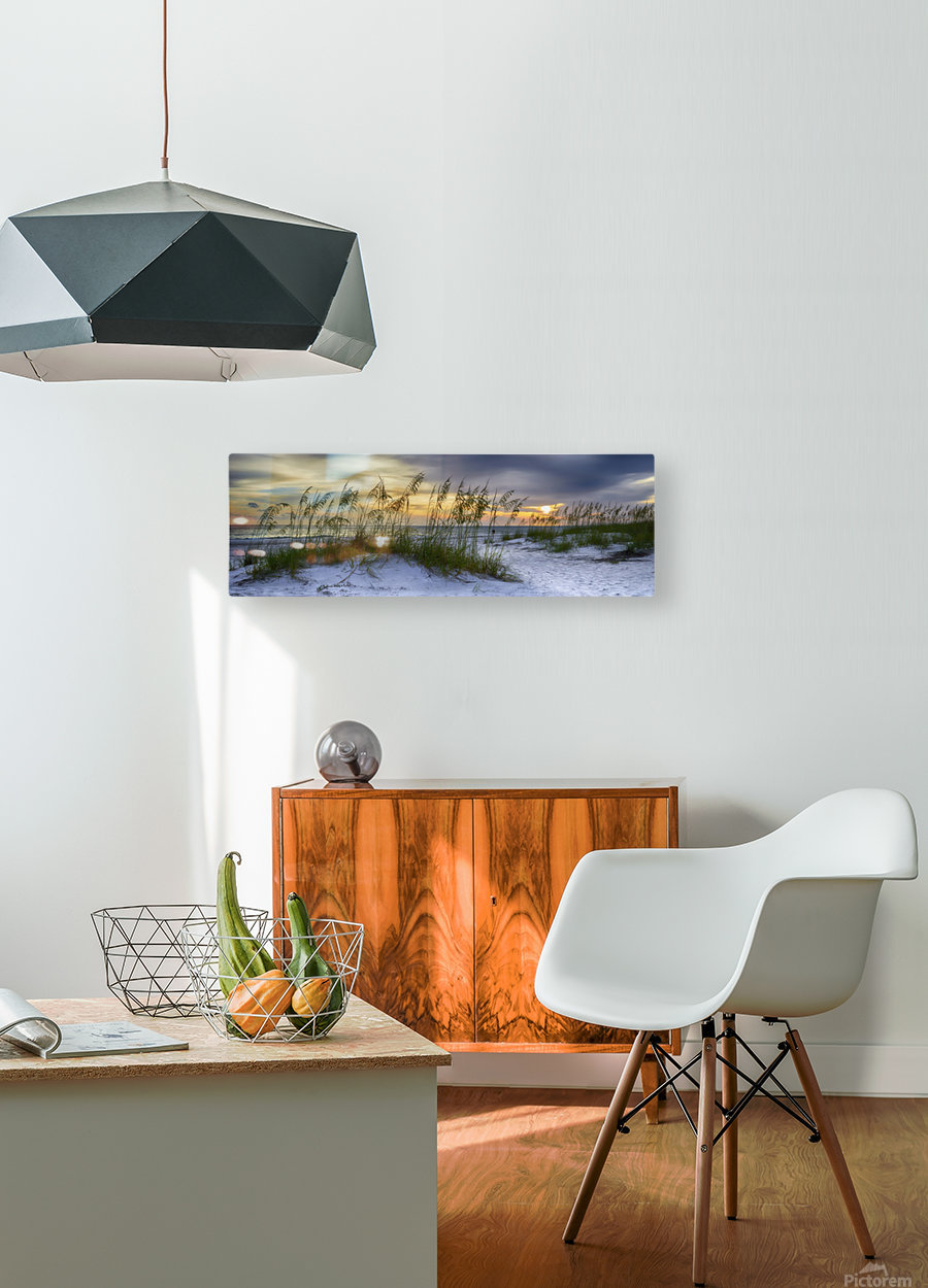 Sunset over Holmes Beach  HD Metal print with Floating Frame on Back
