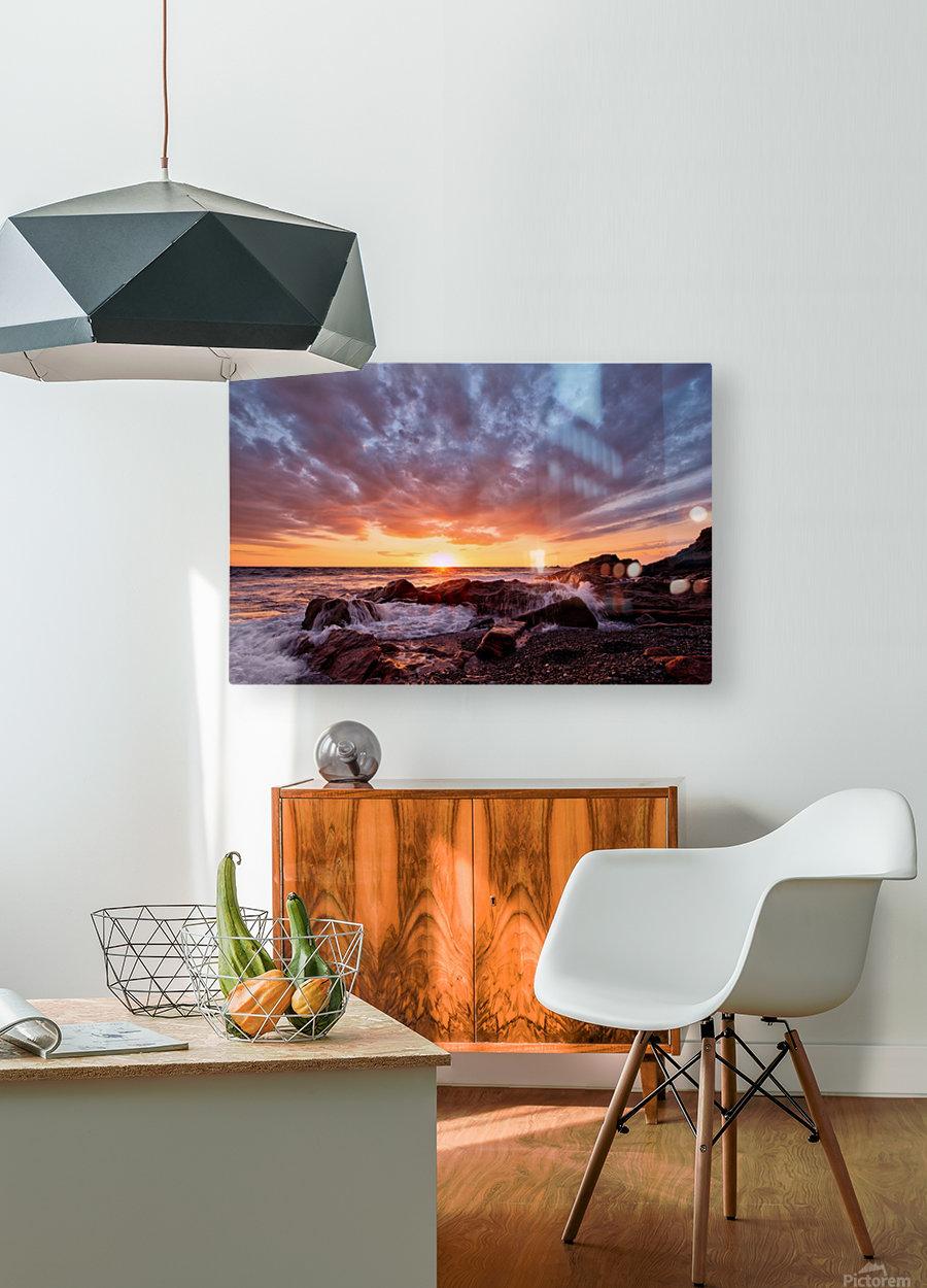 Awash  HD Metal print with Floating Frame on Back