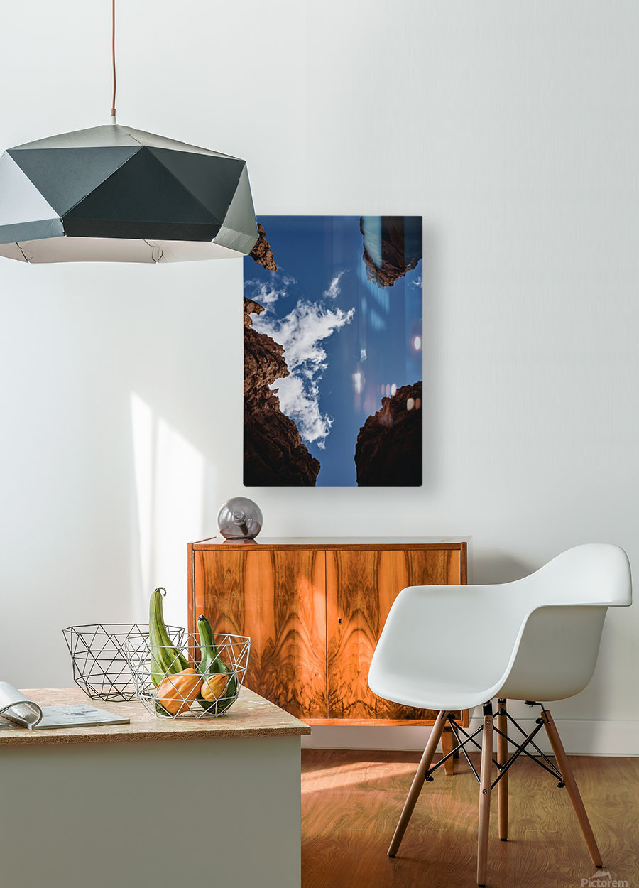 Zion from Below  HD Metal print with Floating Frame on Back