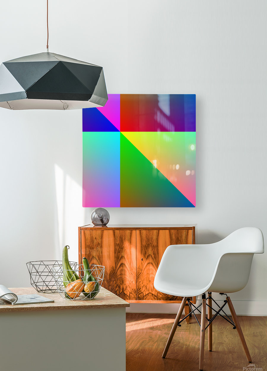 Spectrum  HD Metal print with Floating Frame on Back