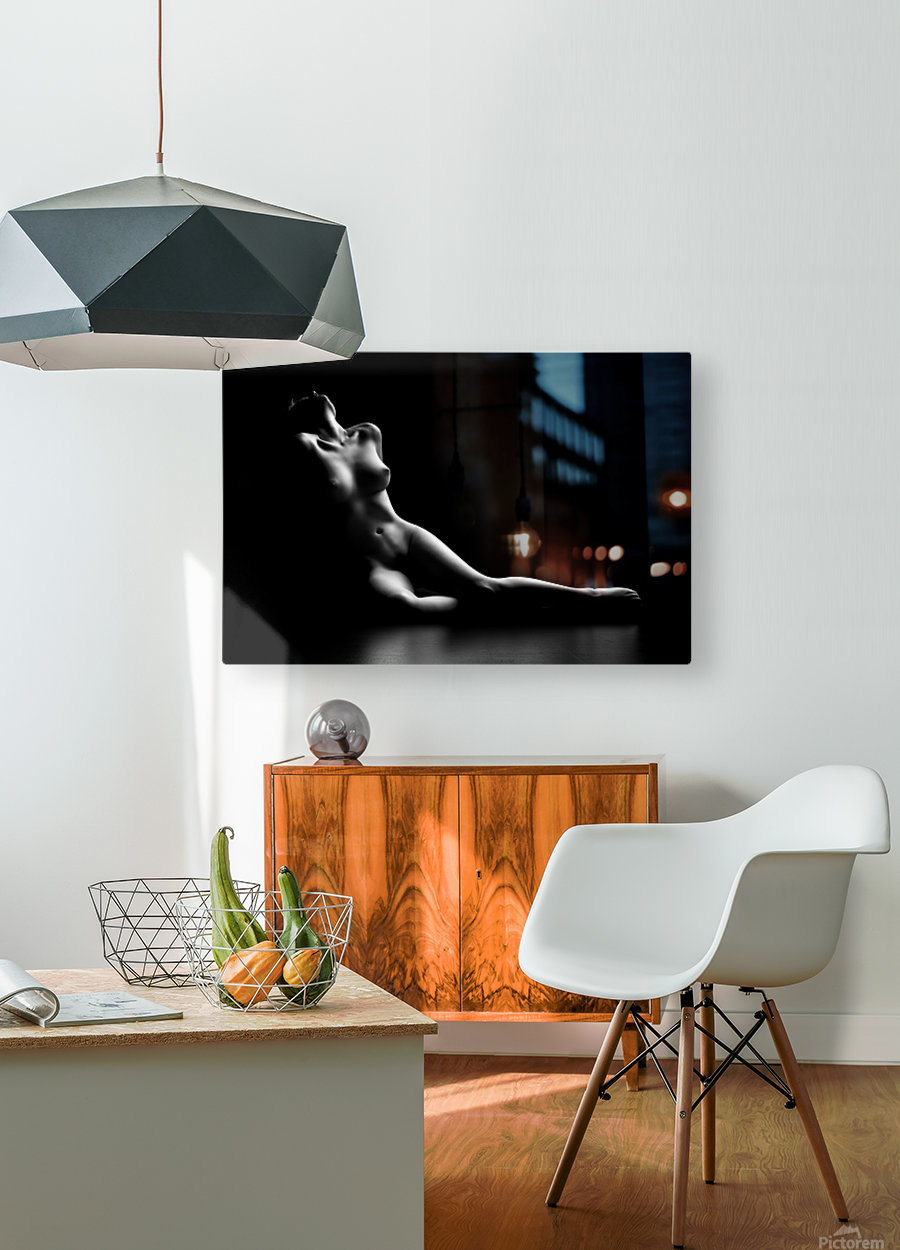 Nude woman bodyscape  HD Metal print with Floating Frame on Back