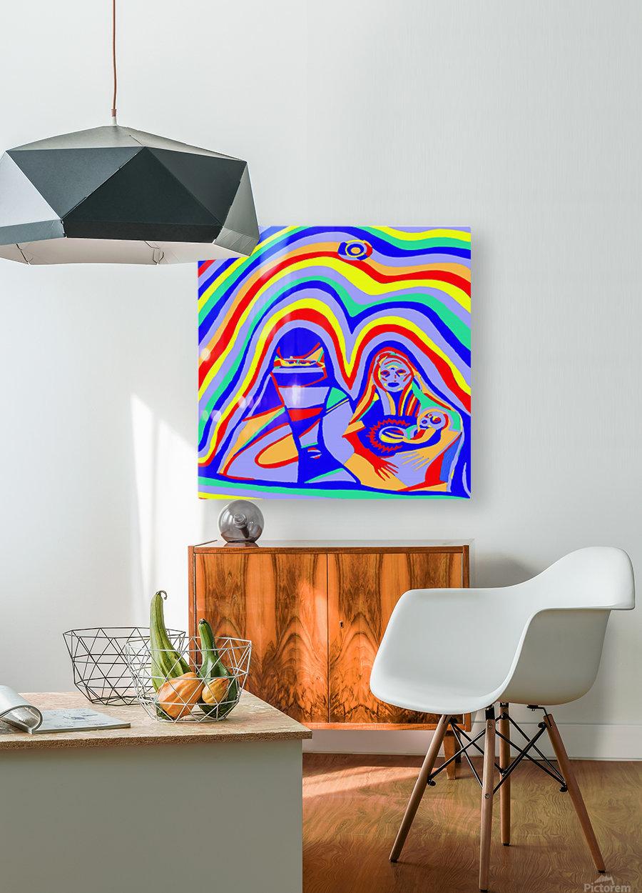 Sandstorm  HD Metal print with Floating Frame on Back