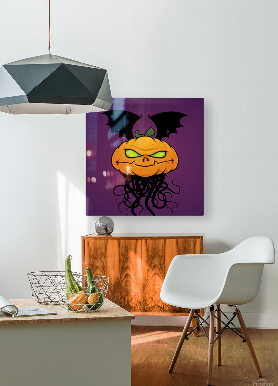 Punkin Monsta  HD Metal print with Floating Frame on Back