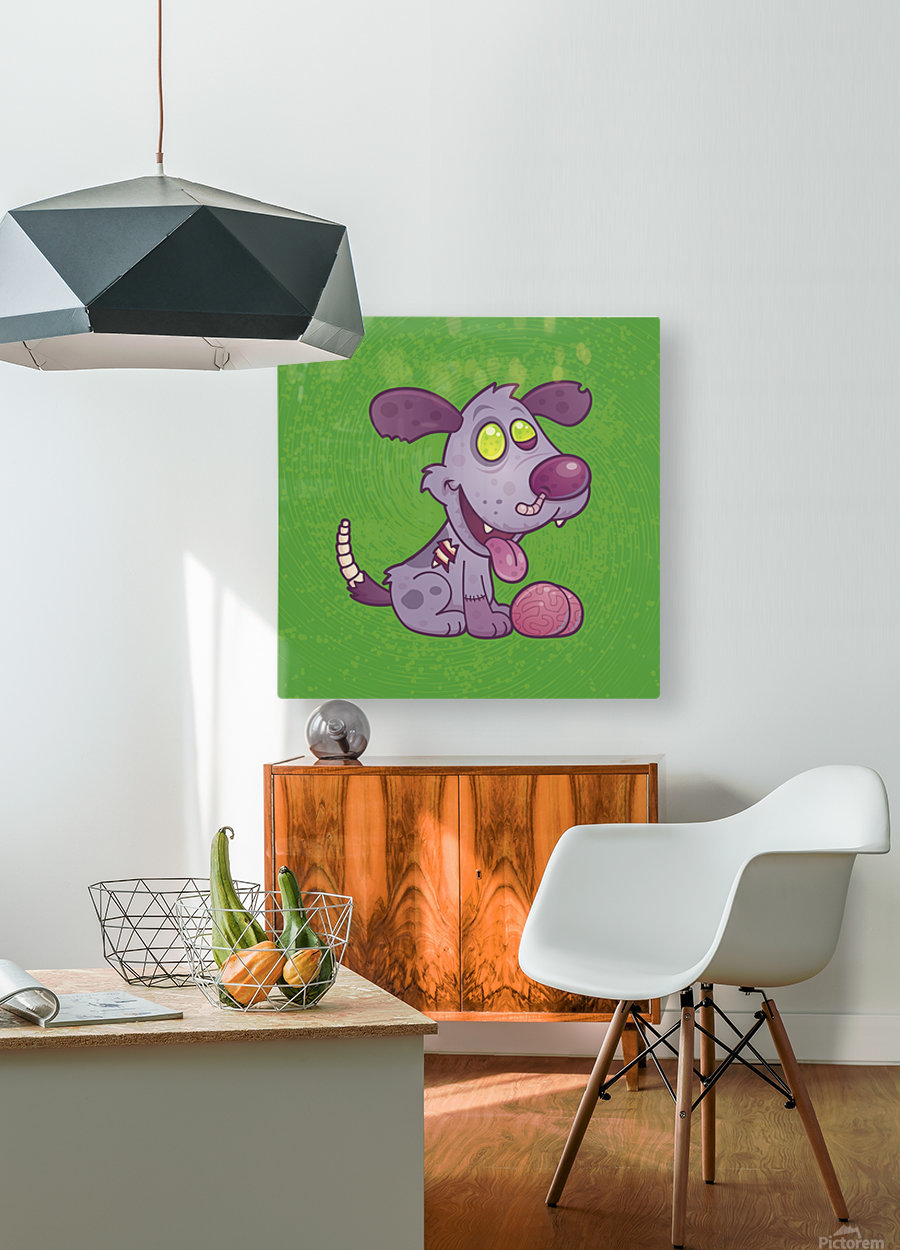 Zombie Puppy  HD Metal print with Floating Frame on Back
