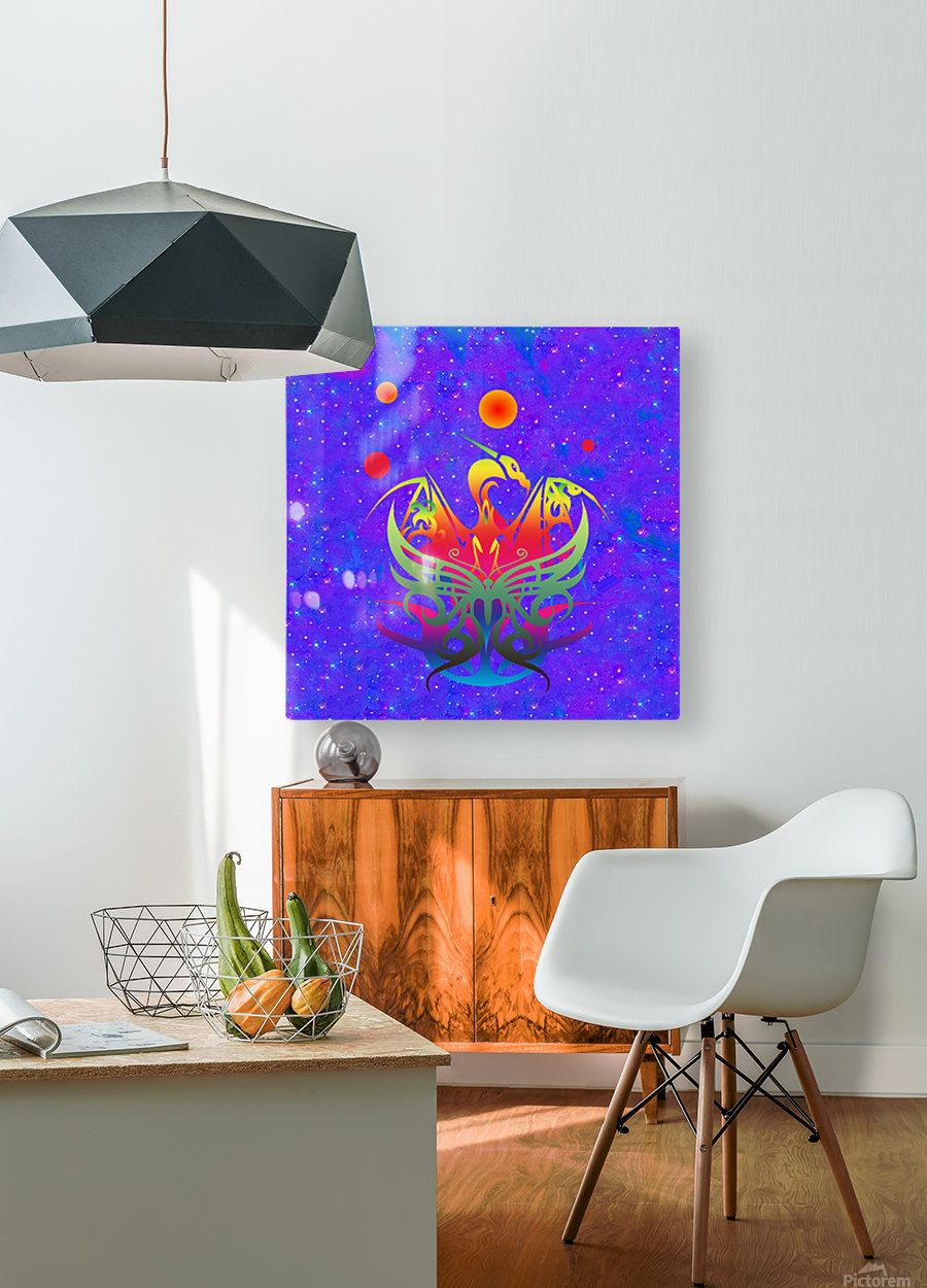 Star Dragon  HD Metal print with Floating Frame on Back