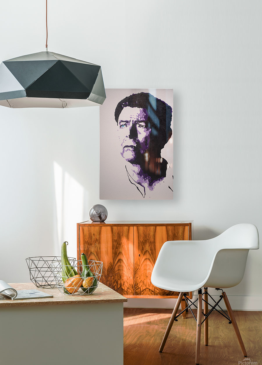 2014 Sad Bowie  HD Metal print with Floating Frame on Back