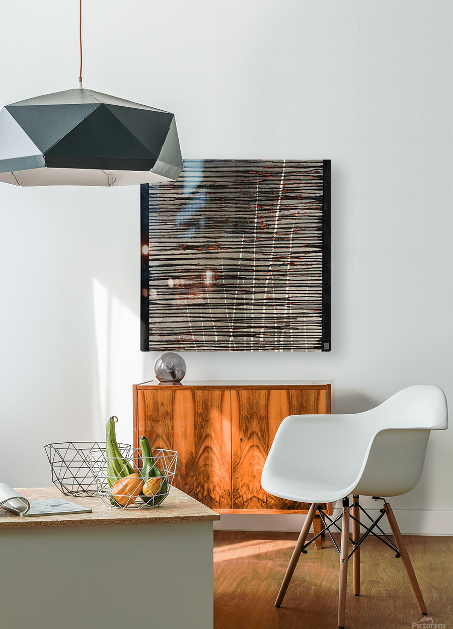 Létang dépassé - Contemporary Art  Impression métal HD avec cadre flottant sur le dos