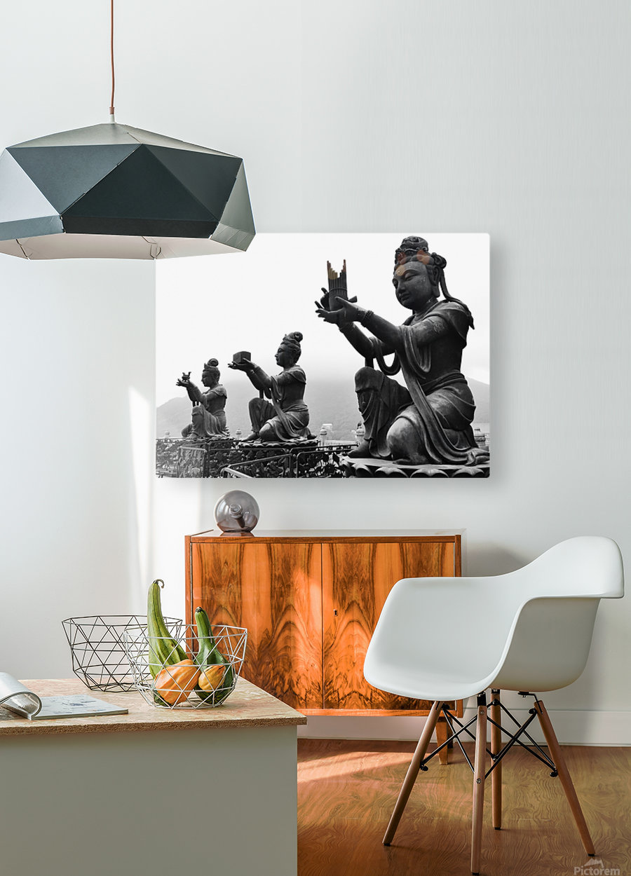 Offer for Buddha  HD Metal print with Floating Frame on Back