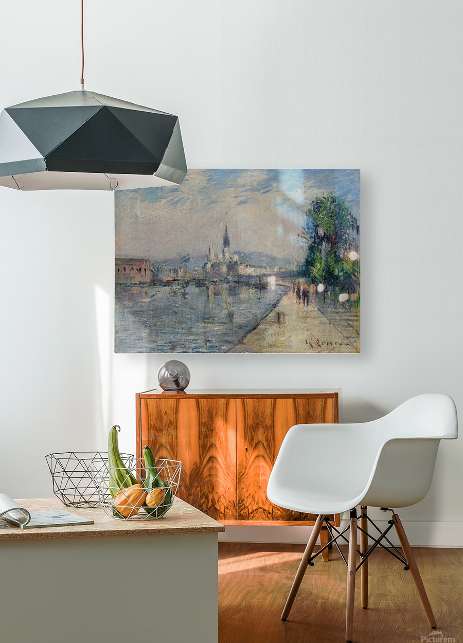 Rouen, Banks of the Seine  HD Metal print with Floating Frame on Back