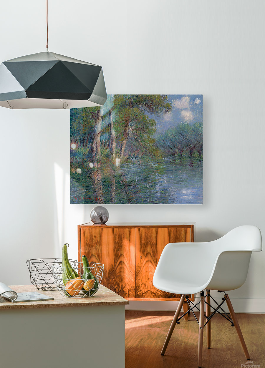 The Bend of the Eure  HD Metal print with Floating Frame on Back