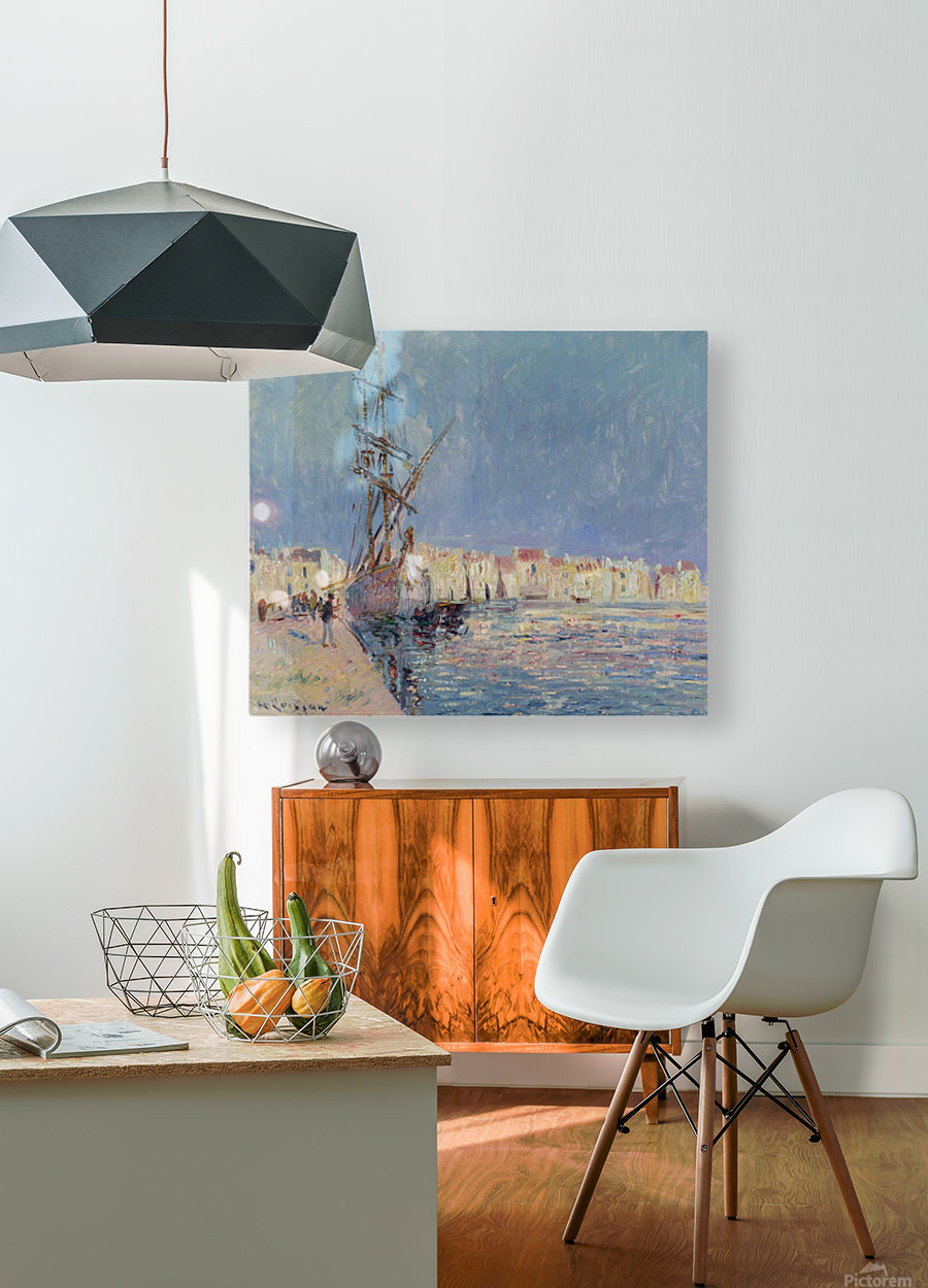 The Martigues, the Port of Ferriere  HD Metal print with Floating Frame on Back